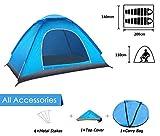 ANSTEN Tenda da Campeggio per 2 Persone, Tenda Impermeabile Pieghevole con Borsa per Il Trasporto Facile da Montare