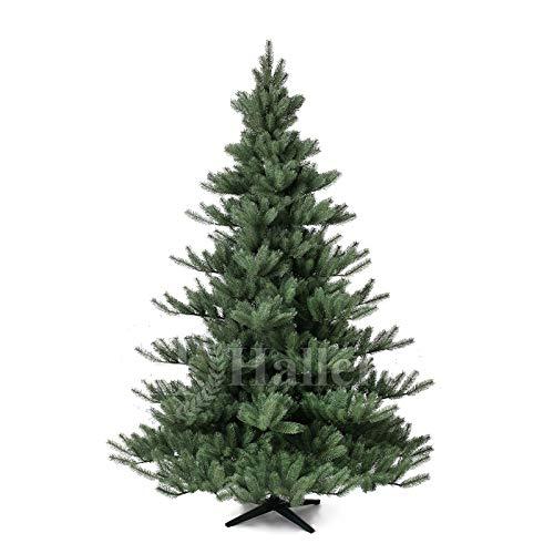 Original Hallerts Spritzguss Weihnachtsbaum Alnwick 210 cm als Nordmanntanne - Christbaum zu 100% in Spritzguss PlasTip Qualität - schwer entflammbar nach B1 Norm, Material TÜV und SGS geprüft - Premium Spritzgusstanne