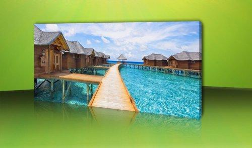 dalinda 301–cuadro Maldivas Hotel 120x 50cm Decoración de pared Lienzo Pared de...