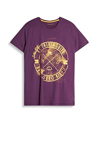ESPRIT Herren T-Shirt 077ee2k003 Violett (Purple 510)