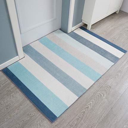 Unbekannt Fußmatte,Eingang Teppich Fußmatte Schlafzimmer Wohnzimmer Innentür Matten Anti-Schleudern Geometrisch Gemustert-blaub 80x120cm(31x47inch) (Drop-cam-außen)