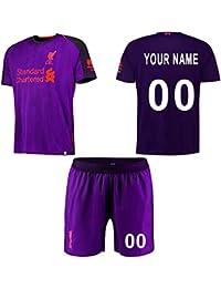 WFhome Camisetas de fútbol Personalizadas del Campo de Ruta del Club de fútbol de Liverpool de