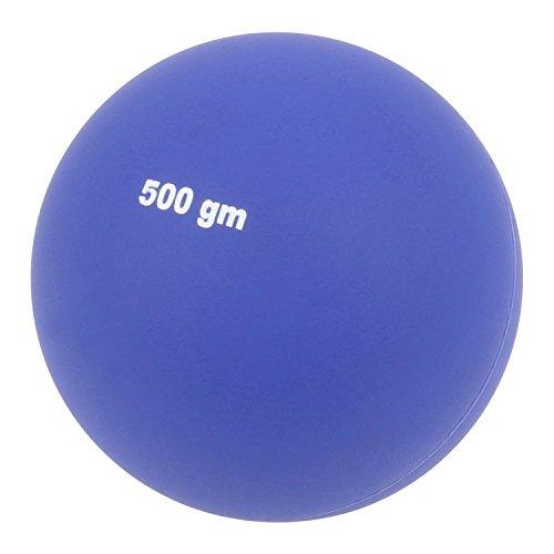 Preisvergleich Produktbild Kugelstoßen - leichte Übungs-Stoßkugel für Kinder - 500 Gramm - blau