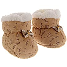 SHOP FRENZY Designer Comfortable Soft Infant Booties Socks Shoes Pre-Walker for Baby Girl/Baby Boy/Kids Born (Red, 0-12 Months)