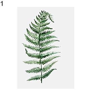 ALCYONEUS Nordic Style Pastoral Green Plant Leaves Modern Minimalist Decorative Painting No Frame size 30cm x 40cm (1#)