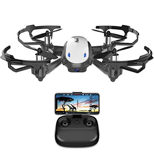 Potensic Mini Drohne mit Live-Video-Kamera, RC Helikopter FPV Quadrocopter ferngesteuert mit app, Kopflos-Modus, Höhe-halten-Funktion, EIN-Tasten-Start und -Landen, Ideal für Anfänger und Kinder