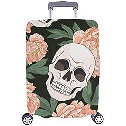 Cubierta de Maleta Protectora de Equipaje de Viaje, Maleta, Calaveras, góticas y góticas de Color Rosa góticas 28.5 x 20.5 Pulgadas