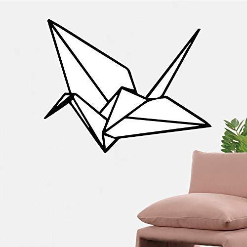 yiyiyaya Geometrische Papierkran Wandaufkleber für Kinderzimmer Kreative Einfach Abnehmbare Wandgestaltung Aufkleber Selbstklebende Wohnkultur Tapete schwarz 58 cm X 72 cm Depression Tumbler
