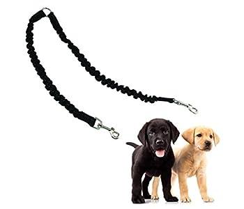 adogo Double élastique pour chien Pet laisse plomb Coupleur pour la marche deux chiens