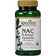 Swanson NAC N-Acetyl-Cysteine - 600mg, 100 Capsules