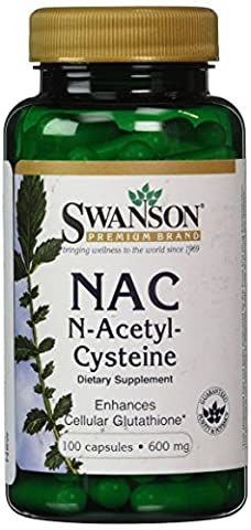 Swanson NAC N-Acetyl-Cysteine 600mg, 100 Capsules (600mg, 100 Capsules)