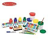 Melissa & Doug Easel Companion Accessory Set (Arts & Crafts, Promotes Creativity, 25 Pieces, 26.67 cm H x 12.7 cm W x 48.26 cm L)