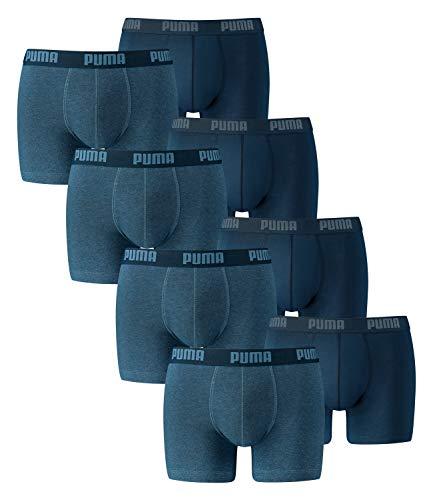 PUMA Herren Boxershorts Unterhosen 521015001 8er Pack , Wäschegröße:XXL;Artikel:-162 denim