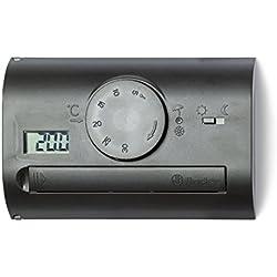 FINDER 1T4190032000PAS Habitación termostato de pared de montaje con desviador 5 A Negro
