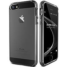 Funda iPhone SE, VRS Design [Crystal Bumper][Negro] - [Transparente][Shock- Absorción case][Militar Protección] - Para iPhone 5/5S/SE
