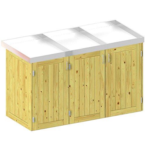 BINTO Nadelholz Mülltonnenbox, Müllbox System 6
