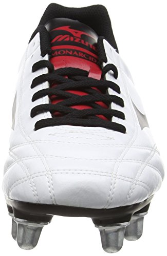 Mizuno Monarcida Rugby Si, Chaussures de Rugby homme Blanc - White (White/Black/Chinese Red)