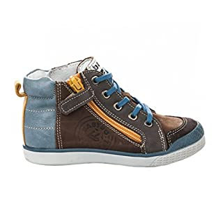 Babybotte Boys' Akro Hi-Top Trainers brown Size: 9.5 Child UK
