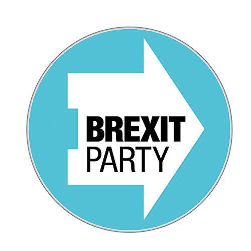 Gifts & Gadgets Co. Brexit Party Logo Kühlschrankmagnet rund 58 mm groß