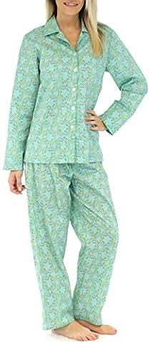 Sleepyheads Pyjama mit langen Ärmeln für Damen zweiteiliger schlafanzug aus Baumwolle(SHCP1623-4015-MED)