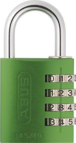 ABUS Aluminium-Zahlenschloss 145/40, grün, 48810 August Tasche