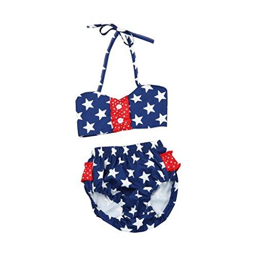 PINEsong 2PCS Baby-Mädchen Ärmellos Tankini Bikini Set Bademode Strandkleidung (1-3Jahr) (24M, Marine)