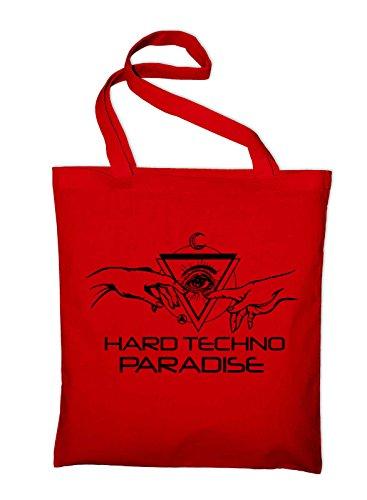 Hard Techno Paradise Genesis Jutebeutel Rot