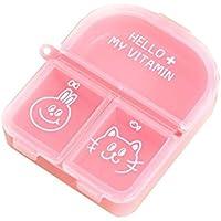 Rosa Mini tragbare Medizin Box Portable Kit Dispenser Box preisvergleich bei billige-tabletten.eu