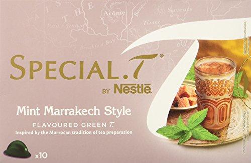 SPECIAL.T by Nestlé Thé Vert Parfumé Menthe et Épices Mint Marrakech Style 10 capsules - Lot de 4