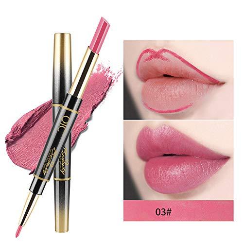Yazidan 14 Farbe Lipgloss Doppelseitiger Lip Liner-Stift- wasserdicht Matte Liquid Lipstick...