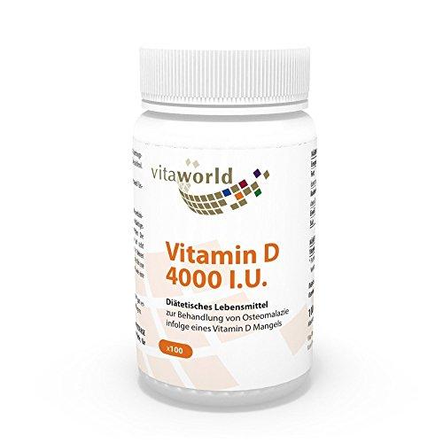 Vita World Vitamina D 4000 I.U 100 Capsule vegetali Made in Germany