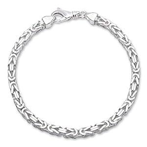 925 Silberarmband: Königsarmband Silber 4,5mm breit – Länge frei wählbar KA0045