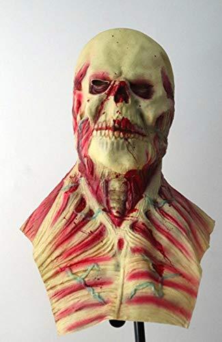 Littlefairy Maske,Halloween Horror Alien Perücke Körper Leiche Dämon Zombiemaske