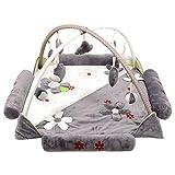 YXXHM- Krabbelmatte mit großer Blume für Babyspielzeug, Musikspieldecke, Spieldecke, Spielunterlage für Babys von 0-12 Monaten, 1-2 Jahre, 120 x 120 x 60 cm C