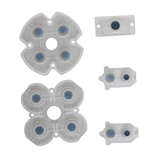 (PS4 Buttons, ENDARK Ersatzteile leitfähige Gummi-Pads Taste Tastatur-Kit für Playstation 4 PS4 Controller Gamepad JDS-030 (2 Sätze))