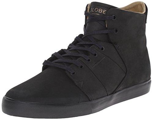 Globe Los Angered Cuir Chaussure de Basket Black-Black