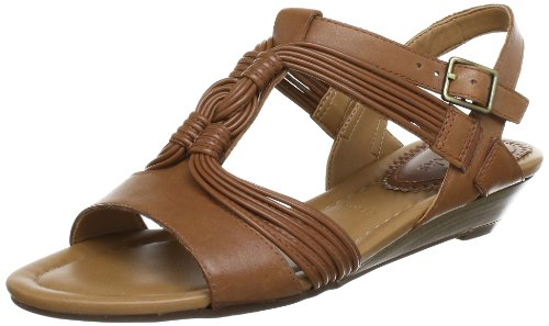 Clarks Santa Party 20354424, Sandali donna Marrone (Braun (Dark Tan Lea))