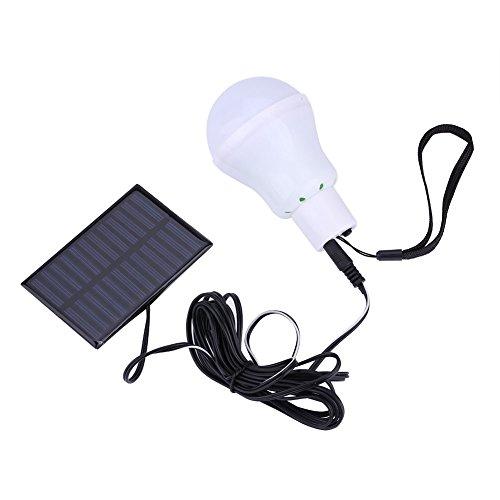 Tragbare 12LED Solarbetriebene Glühbirne Lampe Outdoor Camping Hof Notbeleuchtung, Hühnerstall Schuppen Camping Zelt Stromausfall
