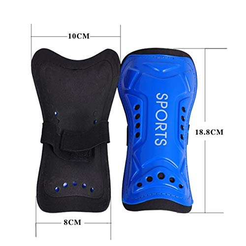 AUVSTAR Youth Soccer Shin Guards  1 Pair Lightweight and Breathable Child Calf Protective Gear Soccer Equipment for 3-10 Years Old Boys Girls Children Teenagers  Blue