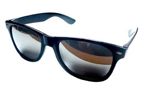 BabyAndHomeStores Sonnenbrille. Wayfarer Stil. Schwarz Spiegeleffekt - Schwarzer Spiegel Effect, Schwarzer Spiegel Effect, Medium