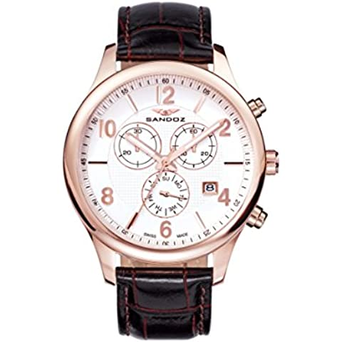 Reloj Suizo Sandoz Caballero 81369-85 Elegant Collection