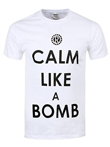 Rage Against the Machine T-Shirt Calm Like A Bomb da uomo in bianco