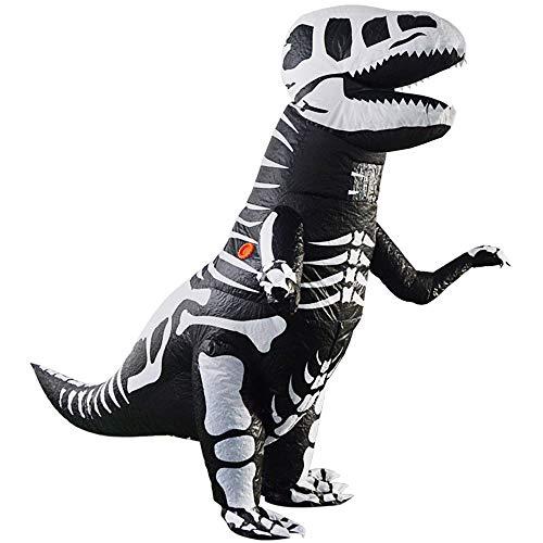 Edelehu Tyrannosaurus Kleidung Halloween Aufblasbare Kleid Dinosaurier Cosplay Kostüm Lustige Aufblasbare Geeignet Für Clubs Geburtstagspartys Schnelle Inflation Erwachsene Größe (Für Erwachsene Lustige Schnelle Halloween-kostüme)