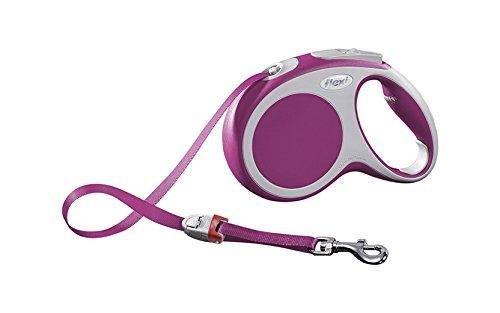 flexi Roll-Leine Vario M Gurt 5 m pink für Hunde bis max. 25 kg