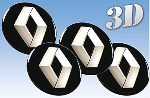 autocollants sur pneus Renault imitation tout Centre taille Cap Logo Badge Enjoliveurs 3d (60mm.)