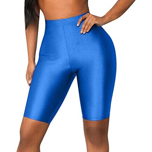 Asalinao Running-Hosen für Damen Leggings Bike Yoga Elastische Shorts mit hoher Taille Leggings Sport Freizeithosen (Hoher Hose Junioren Taille Für Mit)