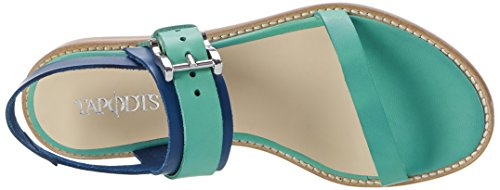 TAPODTS Florina 2.1, Sandales  Bout ouvert femme Mehrfarbig (Aqua Green/cobalto Blue)