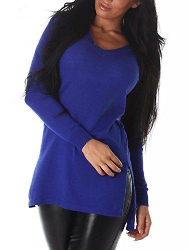 Voyelles - Pull - Femme Bleu