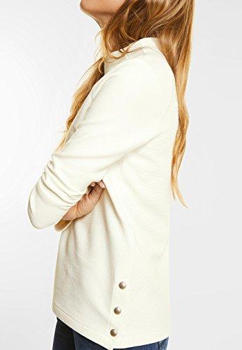 Street One Damen Strukturshirt mit Turtleneck off white (weiss)