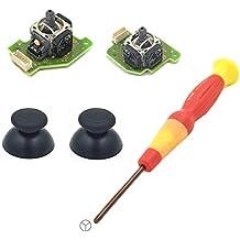 Feicuan Y Destornilladors y Thumbstick Thumb Grip Left and Rigth 3D Analog Joystick de reemplazo Sets para Nintendo Wii U Gamepad controlador